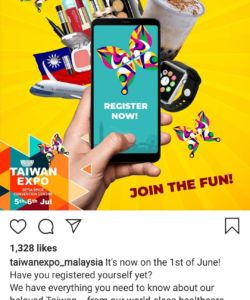 Taiwan Expo Malaysia Instagram Post